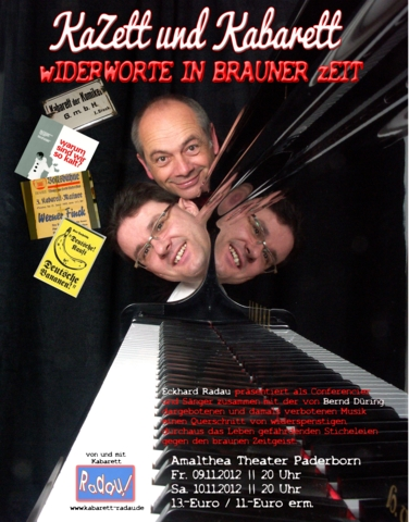 Plakat KaZett und Kabarett
